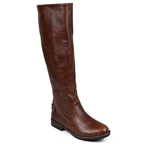 brinley co womens mid calf toe wide calf boots