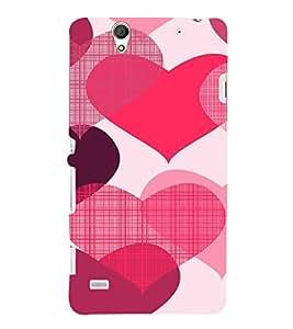 EPICCASE Big Heart Mobile Back Case Cover For Sony Xperia C4 (Designer Case)