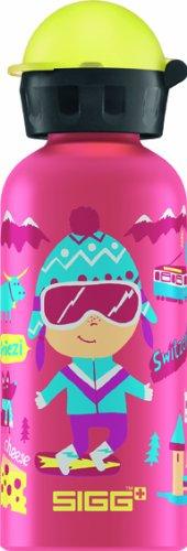 Sigg Travel Girl Switzerland Water Bottle, 0.4-Liter, Pink front-786229