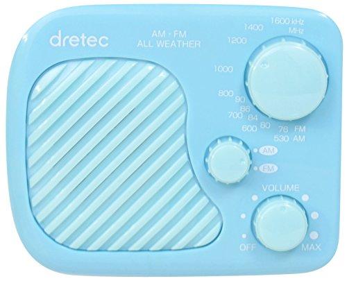 DRETEC AM/FM 防滴ラジオ ブルー PR-320BL