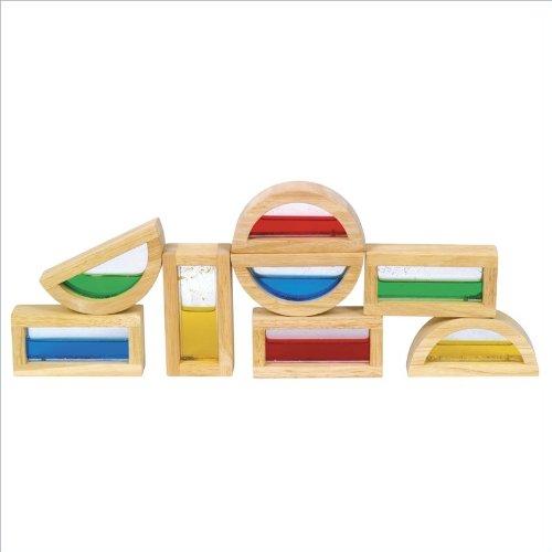 Guidecraft Shimmering Water Rainbow Blocks front-334530