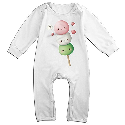 Posit-Babys-Kawaii-Baby-Dangos-Boys-Girls-Kids-Creeper-Romper-Bodysuits-Jumpsuits-Size-US-White