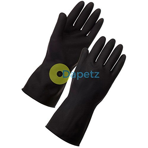 daptez-r-extended-long-sleeve-black-cleaning-gloves-large-cleaning-car-wash-household