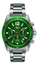 Lacoste Seattle Chronograph Green Dial Stainless Steel Mens Watch 2010640