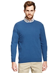 Blue Harbour Luxury Wool Rich Crew Neck Jumper with Cashmere