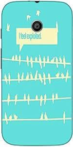 Snoogg Birds Feel Expoited 2912 Case Cover For Moto E