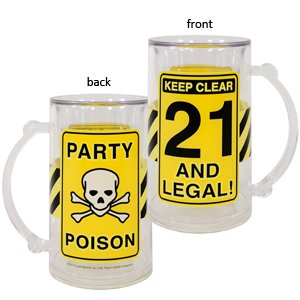 Laid Back CS13048 21 and Legal Acrylic Tankard, 14-Ounce