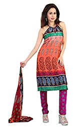 Variation Women's Multi-Coloured Jacquard Unstiched Dress Material (VD11979)