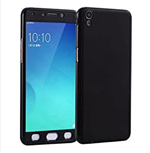 SDO™ Protective Slim Fit Case 360 All-Round Hybrid Body Cover with Tempered Glass for Oppo F1 Plus (Black)