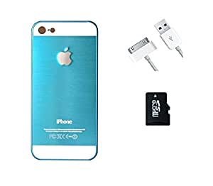 METLY Back cover for Apple IPHONE 4S With Aux Cable and Memory Card 16GB Sky Blue