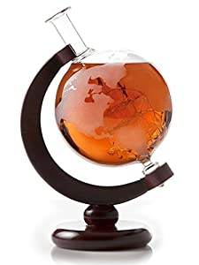 Amazon.com | Etched Globe Whiskey Decanter- 750ml Bourbon Decanter ...