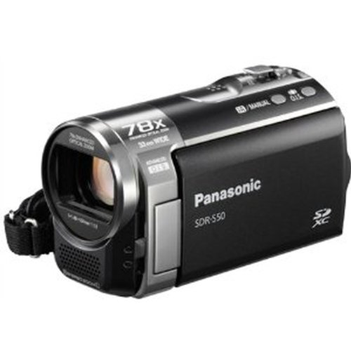 Panasonic SDR-S50K Std-Def SD Camcorder with 78X Zoom & Wide angle Lens (Black)