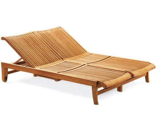 Grade A Teak Double Sun Lounger Teak Patio Furniture World