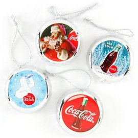 Coca-Cola Bottle Cap Ornaments - 4 Piece Set at Sears.com