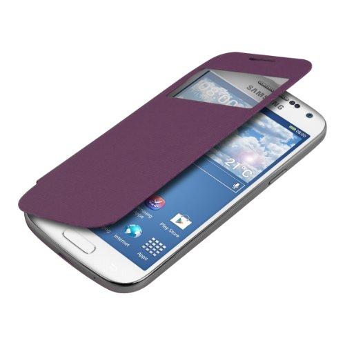 kwmobile フリップスタイル保護カバー Samsung Galaxy S4 Mini i9190 / i9195用 紫色 - ふた付きフリップカバー