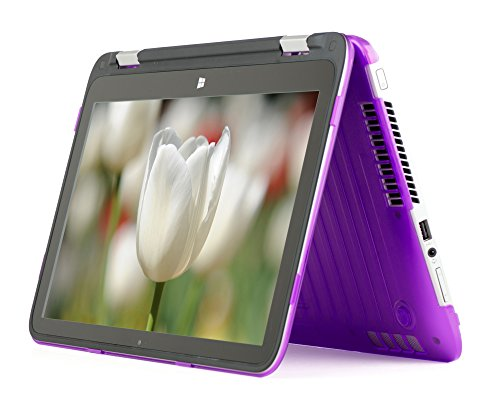 iPearl mCover Hard Shell Case for 11.6-inch HP Pavilion X360 11-n0xx series 2 in 1 Convertible Touchscreen laptops (Purple)