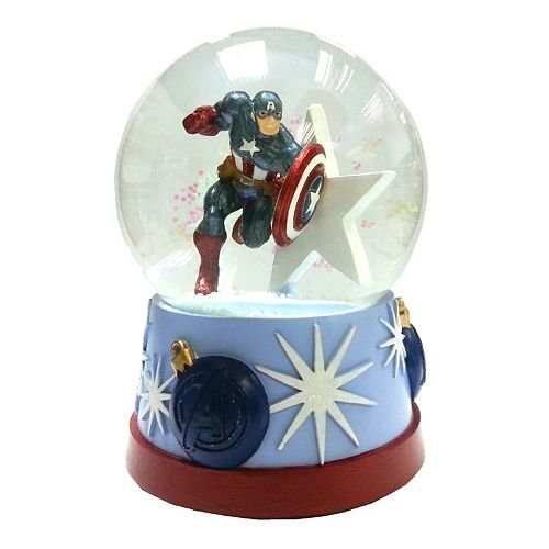 The Avengers Captain America Musical Snowglobe - Plays