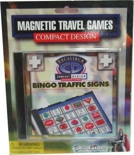 Portable Magnetic Travel Bingo Traffic Signs Game in a CD Case - 1