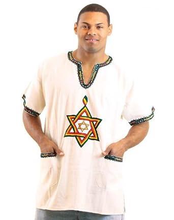 Amazon.com: Handmade Ethiopian Star Dashiki Top - Available in White