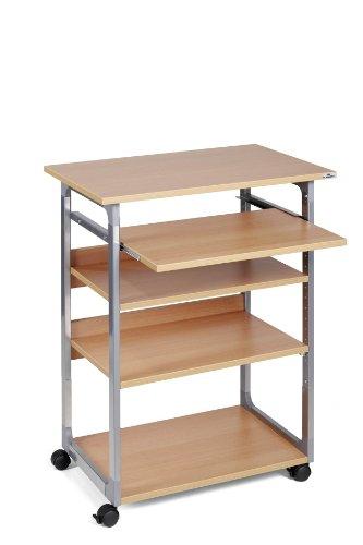 Durable Carrello portacomputer - argento metallizzato/faggio - 75x53,4x95-115 cm - 5 - 3720-124
