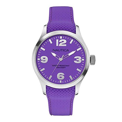 Nautica A11584G - Reloj de pulsera unisex, silicona, color morado