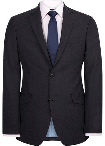 Austin Reed Contemporary Fit Navy Silk Mix Jacket REGULAR MENS 46