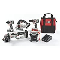 Porter-Cable 20V MAX Li-Ion 5-Tool Combo Kit with 3 Batteries and Charger
