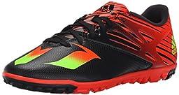 adidas Performance Men\'s Messi 15.3 Soccer Shoe,Black/Shock Green/Solar Red,8.5 M US