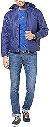 Okane Men's Cotton Regular Fit Jacket (31027 MOVE M, Mauve, M)
