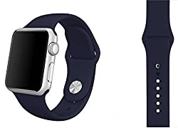 ProElite 42 mm Silicon Wrist Band Strap for Apple Watch - Dark Blue [*Watch NOT included*]