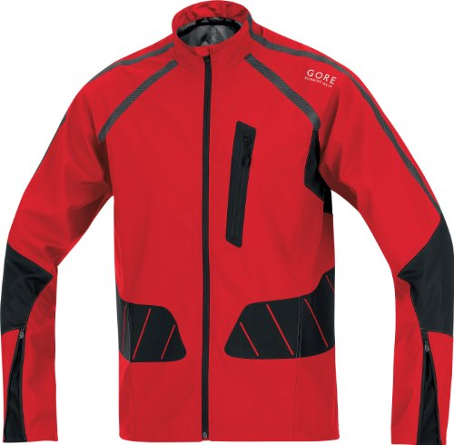 Gore X-Running Running Wear Men's Jacket Active Shell - Red, L