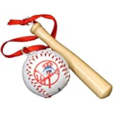 Major League New York Yankees Baseball and Bat Chr