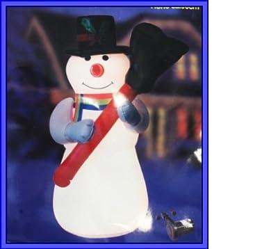 Beleuchteter Schneemann aufblasbar 3m Lichterschlauch Außen und Innen Regenbogen Schal Schwarze Mütze von Centor Warenhandels Gmbh in [ProductCategories]