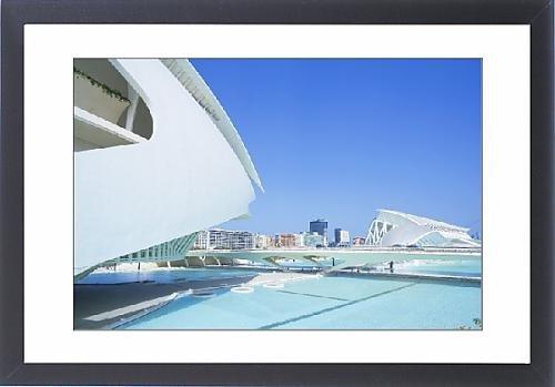 Framed Print Of Palau De Les Arts And Bridge, City Of Arts And Sciences, Valencia, Comunidad
