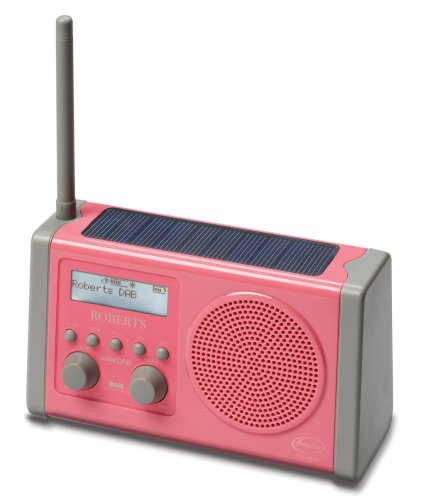 Roberts SOLARDAP-P Solar Powered DAB Radio wth Rechargeable Battery Pack - Pink Black Friday & Cyber Monday 2014