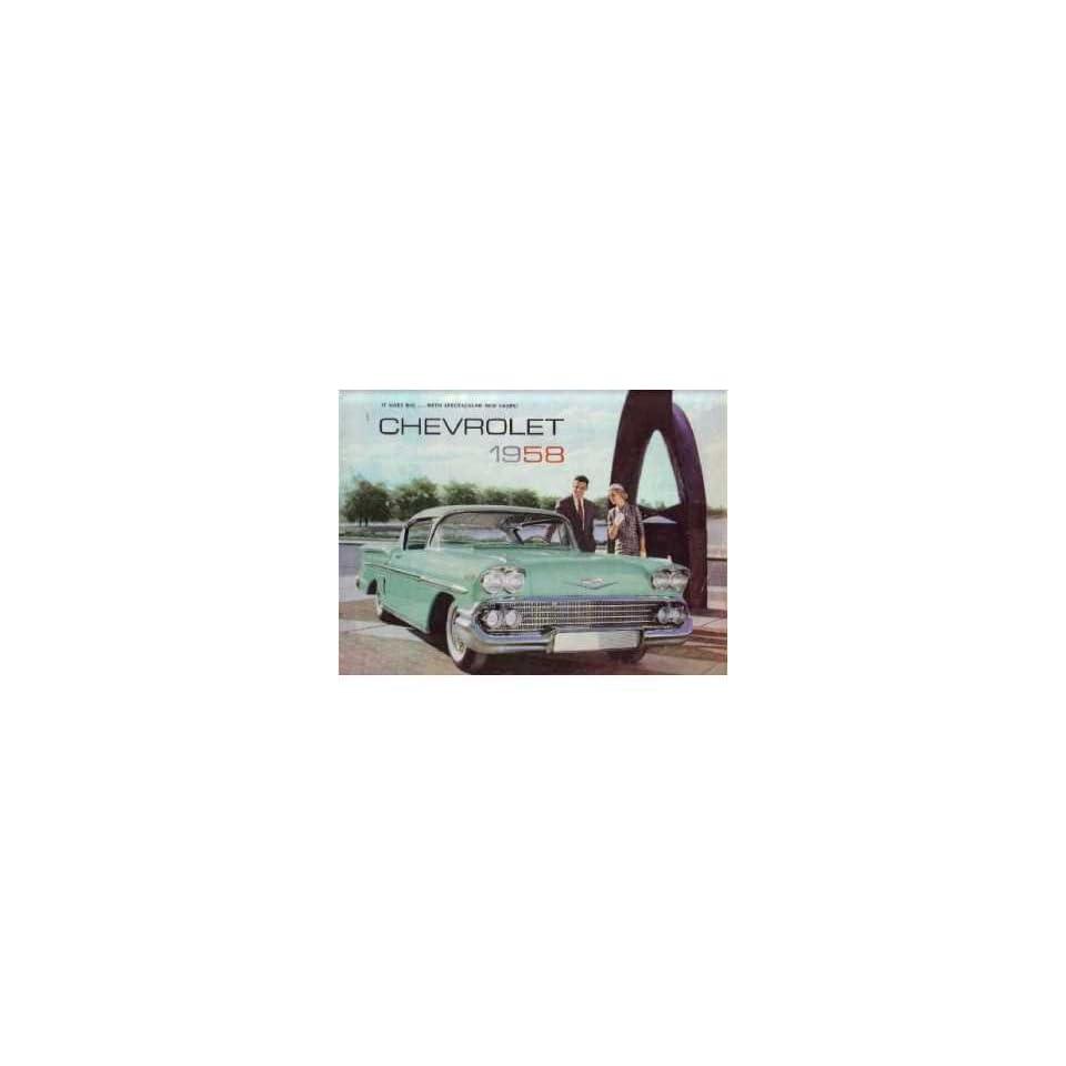 1958 Chevrolet Sales Brochure Literature Book Piece Advertisement Options