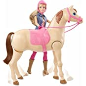 Barbie Saddle N Ride Horse Ride Off Into Adventure With This Barbie Doll And Horse Set