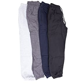 Childrens/Kids Unisex Plain School Jogging Bottoms/Jog Pants (Closed Cuff)
