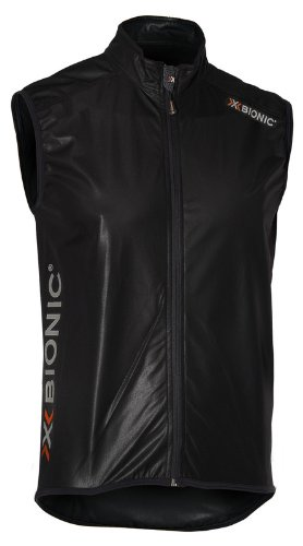 X-Bionic giacca senza maniche bike Spherewind-Uomo, (nero), XXL