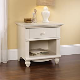 Sauder Harbor View Collection Nightstand, Antique White 400639