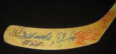 1996-96 Detroit Red Wings Team Signed Stick Russian 5 Vladimir Konstantinov - PSA/DNA Certified - Autographed NHL Sticks