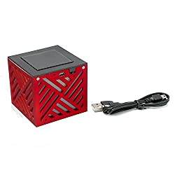 BMS LED Light Mini Bluetooth Wired and Wireless Mobile/Tablet Portable Speakers (Red)