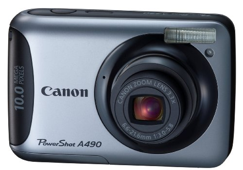 Canon PowerShot A490 10.0 MP Digital Camera with 3.3x Optical Zoom and 2.5Inch LCD