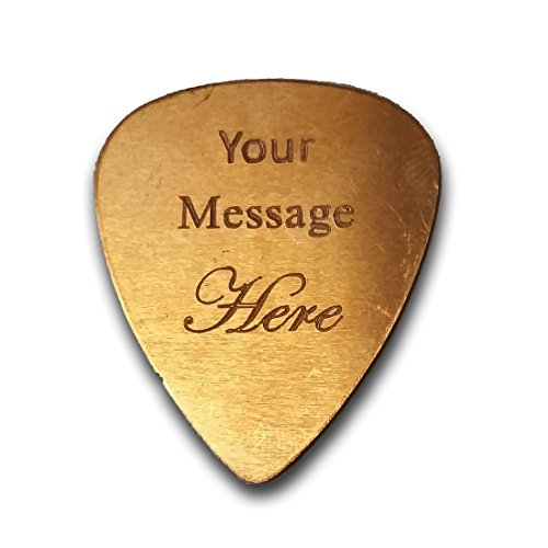 Personalized Add Your Own Engraved Text Guitar and Bass Pick Custom Customizable Gift COPPER