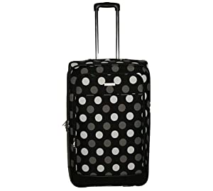 "28"" -2 Wheel Trolley Case-Upright -Black With White Spots"
