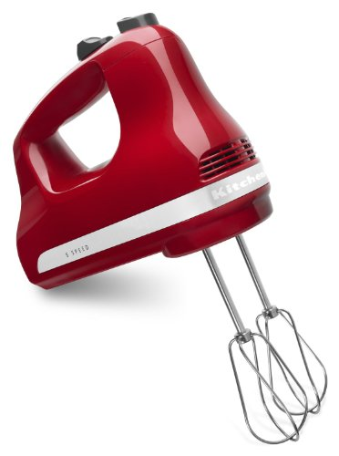 KitchenAid Ultra Power 5-Speed Hand Mixer (Emp Red) (Kitchen Aid Hand Mixer Red compare prices)