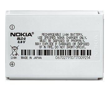 Nokia BLC-2 Standard Battery for Nokia 1260, 1261, 2260, 3310, 3360, 3361, 3390, 3395, 3560, 3570, 3585, 3586i, 3588i, 3589i, 3590, 3595, 6010, 6651, 6800, 6810
