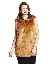 GAS Women's Faux Fur Jacket (83160_Hazel Wood_42)