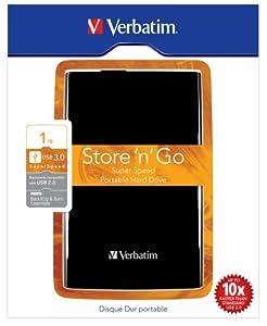 """Verbatim 53023 Store 'n' Go Disque dur externe portable 2,5"""" 1 TO USB 3.0 Noir"""