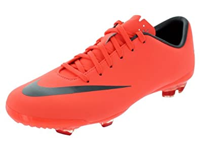 Mercurial Vapor VIII FG Kids Football Boots Bright Mango/Metallic Dark Grey - size 5.5